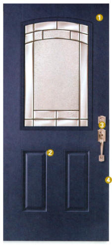 Manufactured bellevill smooth high performance for Belleville fiberglass doors